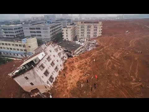 top-5 Massive landslide Caught on Camera