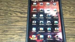 GO SMS Rebirth theme YouTube video