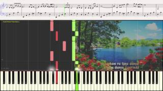 Moein - Roya (Ноты и Видеоурок для фортепиано) (piano cover)