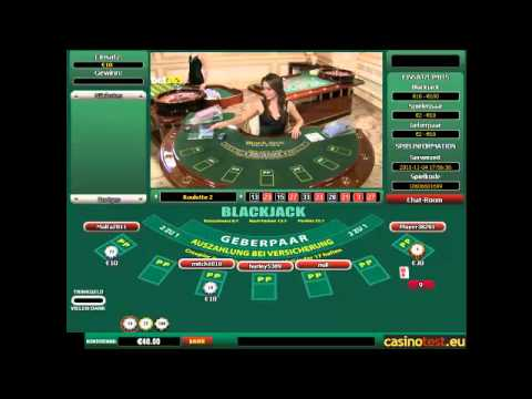 Euro Live Dealer Blackjack Video