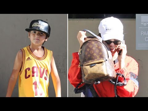 Kourtney Kardashian Tries To Hide As She Steps Out With Cavs Fan Mason Disick