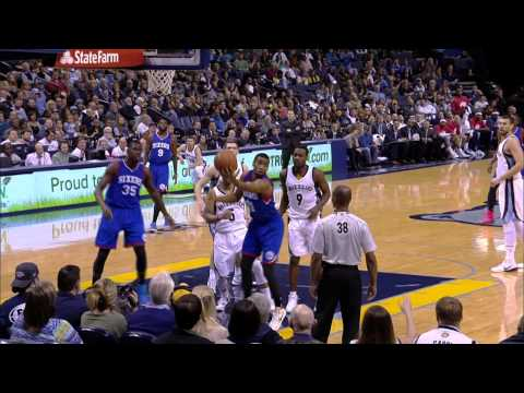Beat - Hollis Thompson does not give up on the play after being blocked and makes a circus shot to be the shot clock. About the NBA: The NBA is the premier professional basketball league in the...