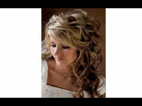 Вечерняя причёска на средние волосы с локонами