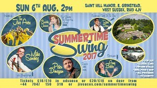 Some highlights from last year's Summertime Swing to whet your appetite for 6th August 2017!Video features Gunhild Carling, Maurizio from the Billy Bros, Laurie London, Julie Jive, Luna Nightingale, Charlie Grima, Scott Jenkins and more!Join us on 6th Aug with guests Mike Sanchez, Peter Donegan, Cassidy Janson, Rebel Dean and Amy Baker! Tickets from http://www.jiveaces.com/summertimeswing.Video including drone filmed by Slingshot Productions - http://slingshotproductions.co.uk