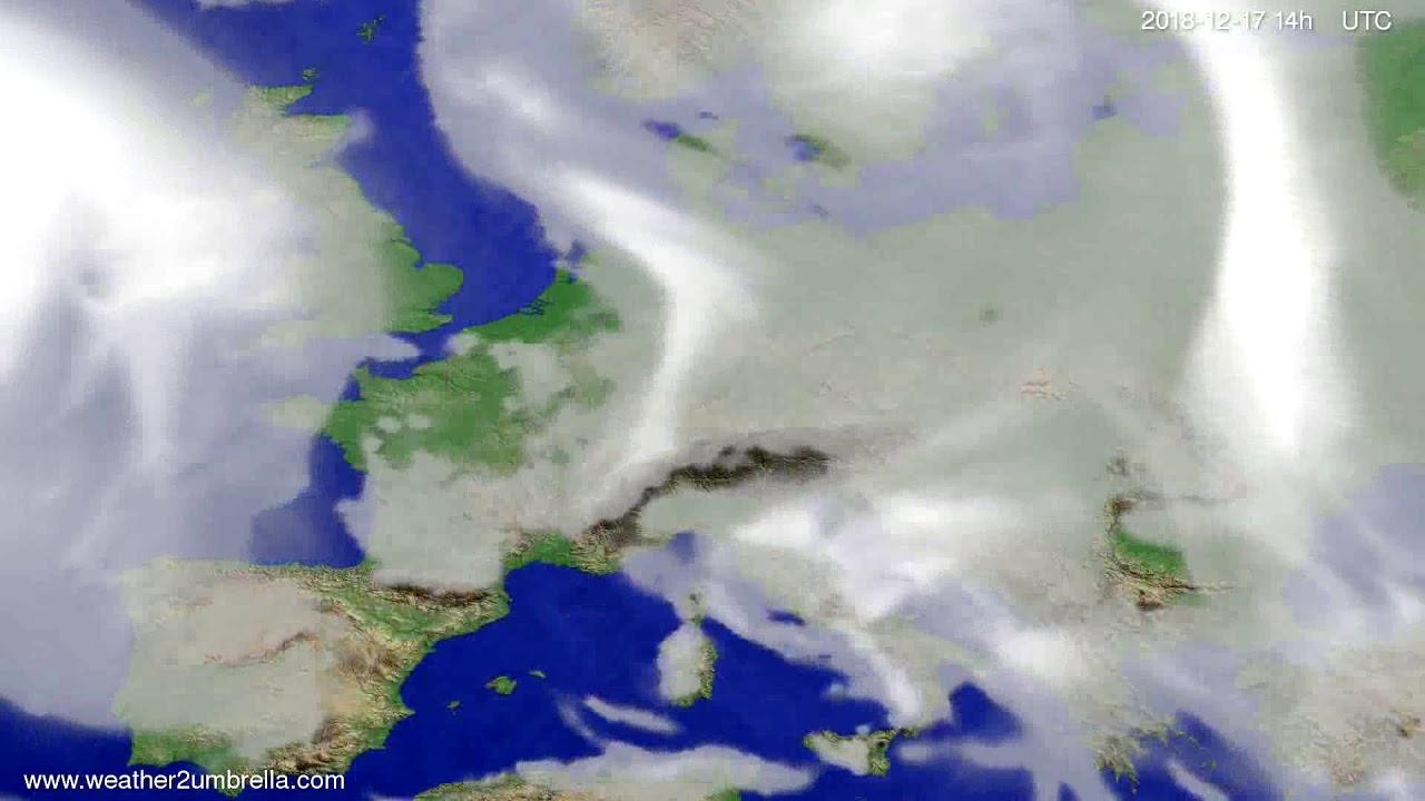 Cloud forecast Europe 2018-12-13