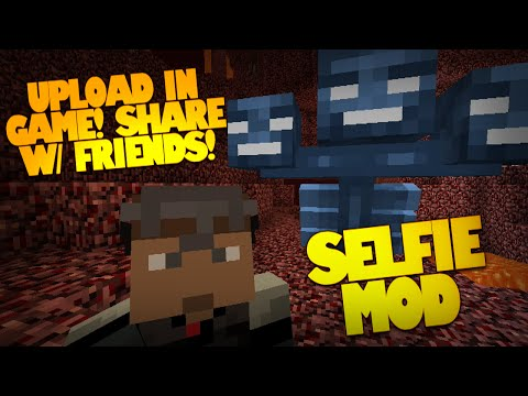 Minecraft Mods | Selfies | How to Take a Selfie in Minecraft | Upload & Show Friends (Mod Showcase)