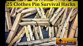 25 Clothes Pin Hacks for Survival.Improvise to Survive! Taking ordinary household items and using them for multiple purposes. Be a Team Sootch Minuteman: https://www.patreon.com/Sootch00Sootch00 Gear available at: https://teespring.com/Sootch00Thanks For Watching, Liking & Subscribing! ~ Sootch00Music is from Jingle Punks Royalty Free Music through the Fullscreen Network. Used with permission.
