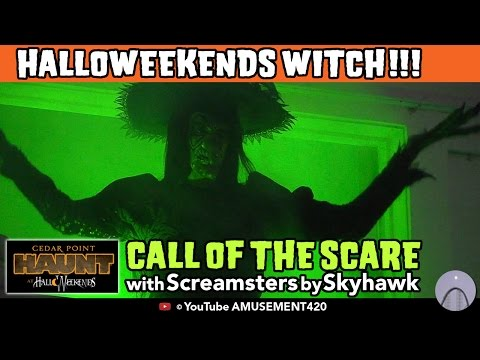 CEDAR POINT WITCH & Screamsters Call of the Scare HalloWeekends 2015 (видео)