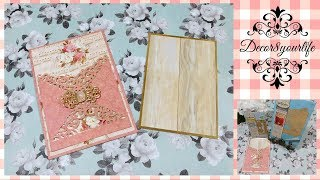 Wedding Invitation Tutorial. These Elegant Invitations can be used for quinceaneras, sweet sixteen, holiday parties, etc.
