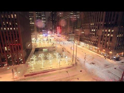 Snežna oluja u Nju Jorku – snimak u toku jedne noći