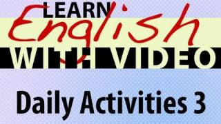 Daily Activities 3 Lesson