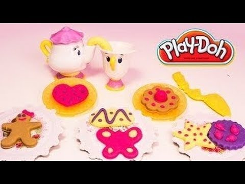 Play Doh Disney Princess Tea Time Belle's Royal Party Sparkle Collection Hasbro Toys