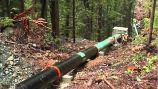 Installation of 36 Victaulic System on Penstock Line