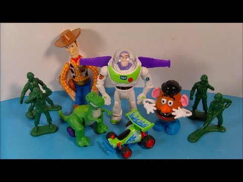 1995 DISNEY'S TOY STORY SET OF 6 BURGER KING KID'S MEAL MOVIE TOY'S VIDEO REVIEW