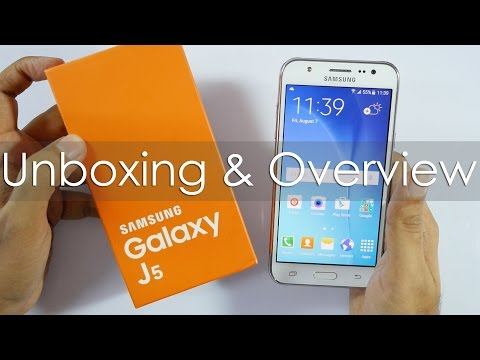 Samsung Galaxy J5 Budget 4G Smartphone Unboxing & Overview