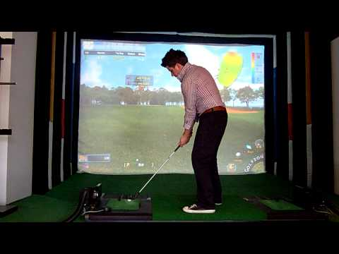 Golfzon golf simulator flop shot demonstation