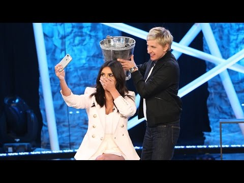 Kim Takes the Ice Bucket Challenge