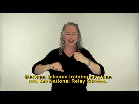 Auslan video on Accessible Telecoms