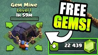 Video HOW MANY FREE GEMS DOES THE GEM MINE GIVE YOU IN CLASH OF CLANS!? - BUILDERS VILLAGE GEM SPREE! MP3, 3GP, MP4, WEBM, AVI, FLV Mei 2017