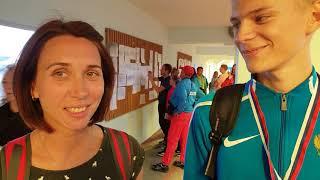 Данил Захаров и тренер Мария Коротеева - победитель Первенства России U-18 400 м барьерный бег