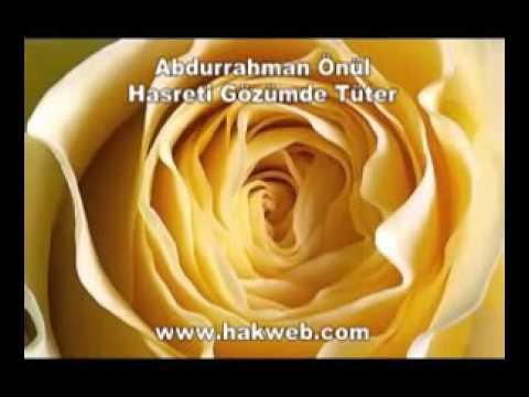 Abdurrahman Önül – Hasreti Gözümde Tüter İlahi Sözleri