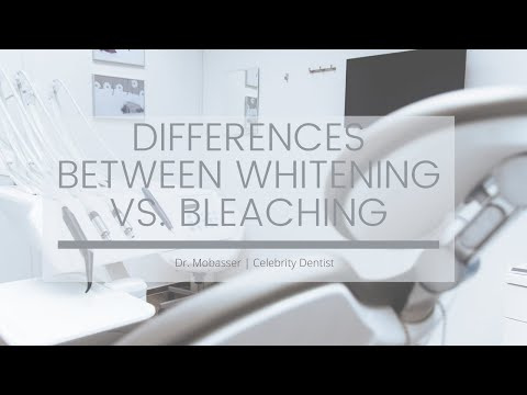 Bleaching Teeth vs. Tooth Whitening | Dr. Anthony Mobasser
