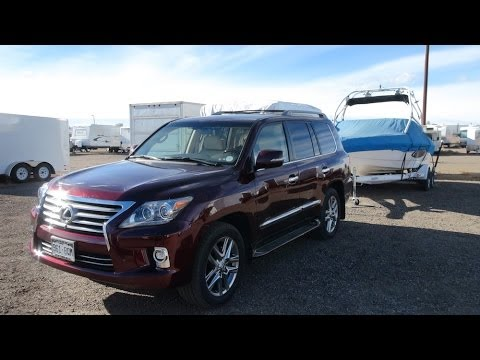 2014 Lexus LX570 0-60 MPH Towing Test