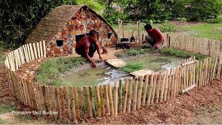 Build Mud House For Dog And Build Fish Pond In Front Dog House