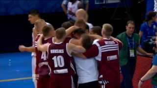 Play of the Game K. Janicenoks MNE-LAT EuroBasket 2013