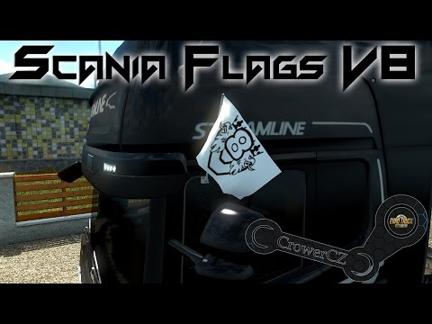 Original Scania V8 Flags
