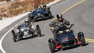9. Is This A Motorcycle Shootout? Polaris Slingshot vs. Can-Am Spyder F3 vs. Morgan 3 Wheeler