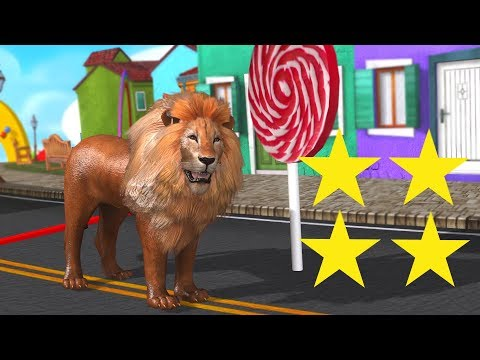 Funny Animals Sprint Cartoon for Children & for Kids