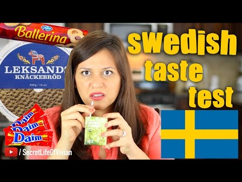 SWEDISH FOOD TASTE TEST IKEA #2 | SWEDEN | VIVIAN REACTS (видео)