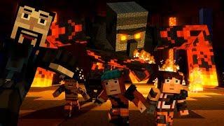 IVOR RETURNS MAGMA IRON GOLEM BOSS - Minecraft Story Mode: Season 2 - Episode 4 [3]
