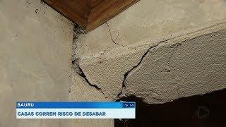 Bauru: vazamento provoca rachaduras em casas e Defesa Civil interdita imóveis