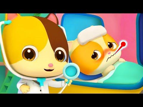 Kitten Timi Got Sick   Sick Song   Doctor Cartoon   Nursery Rhymes   Kids Songs   BabyBus