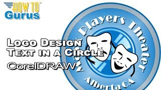 CorelDRAW for Beginners How To Circle Text Logo Tutorial X8 X7 X6