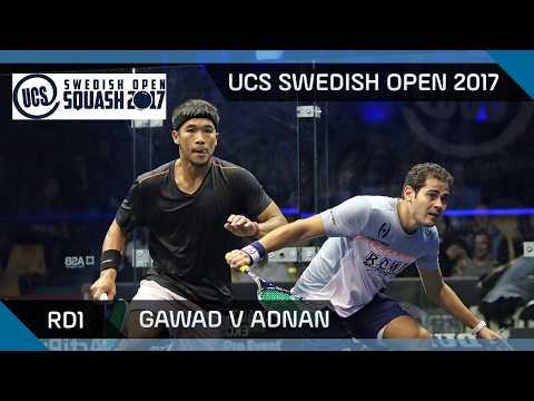Squash: Gawad v Adnan - UCS Swedish Open 2017 Rd1 Highlights