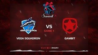 Vega Squadron против Gambit, Первая карта, Квалификация на Dota Summit 8