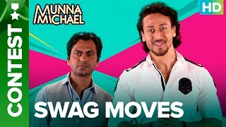 "You can download the Munna Michael game here: https://play.google.com/store/apps/details?id=com.erosnow.MunnaMichaelListen to all the Songs from Munna Michael out here: http://bit.ly/MunnaMichaelAllSongsCalling out all Dancer & Non-Dancer Buddies! Kya aap mein hai Swag ? If yes, then upload kijiye your dancing videos with #Swag featuring yourself and a friend!Song: SwagMusic Composer: PranaaySingers: Pranaay ft. Brijesh ShandaliyaLyrics: Kumaar & Sabbir KhanAdditional programming - Dipanjan GuhaMixed and Mastered - Bashab BhattacharjeeFor caller tunes dial:Airtel - 5432116272562Vodafone - 5379602607Idea - 567899602607BSNL (South/East) - SMS BT Space 9602607 To 56700BSNL(North/West)IMI - SMS BT space 6699623 To 56700Aircel - SMS DT space 6699623 To 53000Movie: Munna MichaelCast: Tiger Shroff, Nawazuddin Siddiqui & Nidhhi AgerwalDirected By: Sabbir KhanProduced By: Eros International & Viki Rajani""Munna Michael"" releases in theaters on 21st July, 2017.To watch more log on to http://www.erosnow.comFor all the updates on our movies and more:https://www.youtube.com/ErosNowhttps://twitter.com/#!/ErosNowhttps://www.facebook.com/ErosNowhttps://www.facebook.com/erosmusicindiahttps://plus.google.com/+erosentertainmenthttp://www.dailymotion.com/ErosNowhttps://vine.co/ErosNow http://blog.erosnow.com"