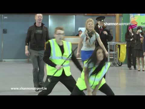 flash mob - Celebrating 37 summer destinations, 9 new routes and the Cheapest Airport parking in Ireland, Passenger's at Shannon Airport were recently treated with a tal...