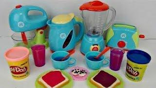 Video JUST LIKE HOME Deluxe KITCHEN Appliance Full Set, Play-doh Bake Mix Magic Slime Frozen Elsa /TUYC MP3, 3GP, MP4, WEBM, AVI, FLV Mei 2017