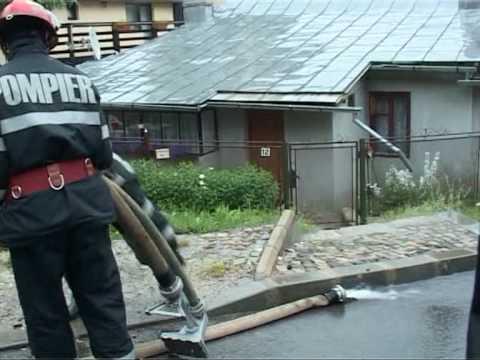 Ploaie torentiala in Sinaia