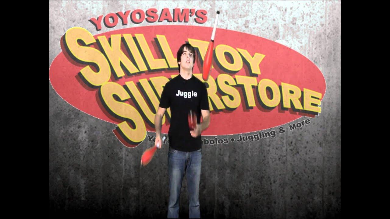 YoYoSam Tutorial: How To Juggle 3 Club Lazies with Josh Horton