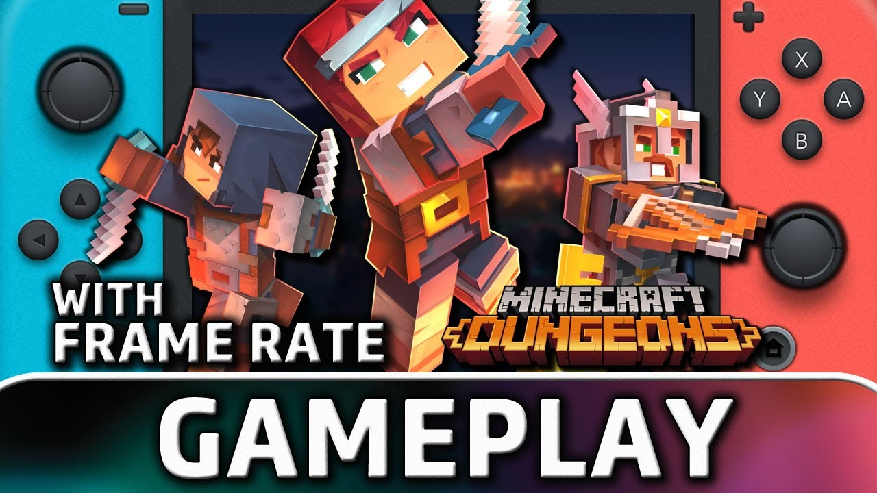 Minecraft Dungeons   Nintendo Switch Gameplay and Frame Rate