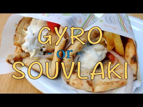 Greek Street Food: Gyro vs Souvlaki in Athens, Greece