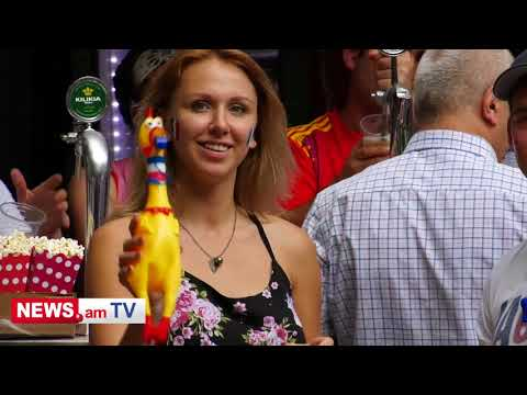 Ֆրանսիայի դեսպանը և ֆուտբոլասերները IDbаnк-ի ֆան զոնայում - DomaVideo.Ru