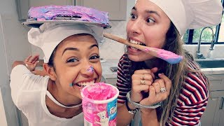 BAKING WITH NO HANDS CHALLENGE!!