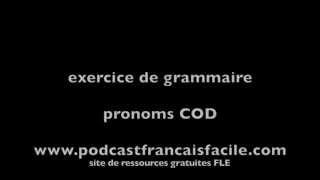 Pronoms COD En Français Au Présent