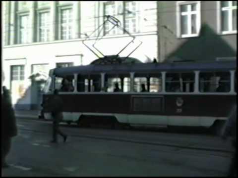 1990: Strassenbahn in Schwerin am 1. April 1990